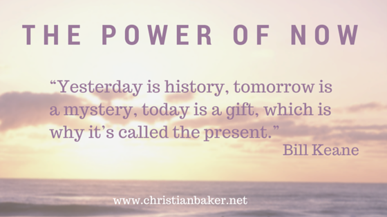 The Power Of Now christian baker